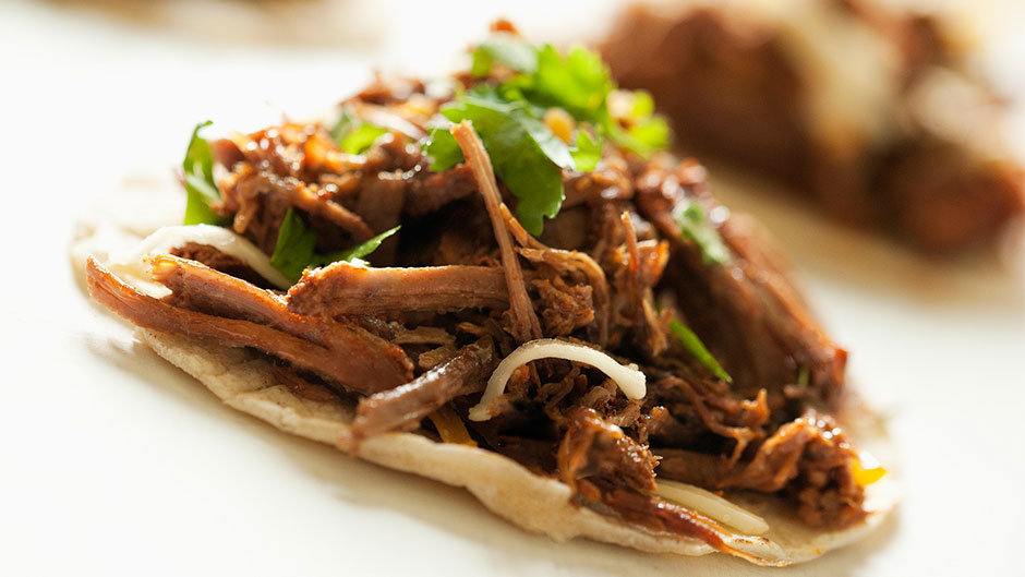 Enjoy this Pulled Beef treat.