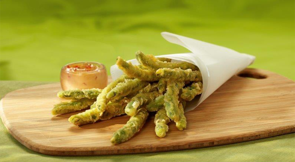 New at TEJA Foods, Tempura Green Beans.